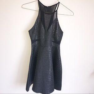 NWT ASTR Black Snakeskin Cocktail Dress